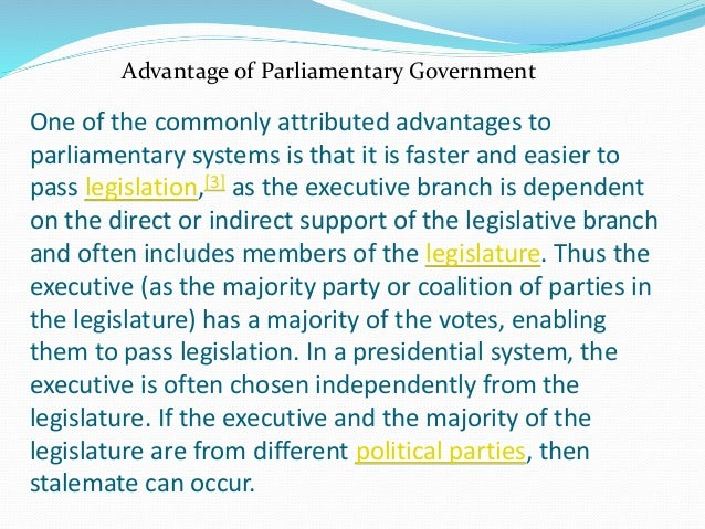 Disadvantages of parliamentary system essays