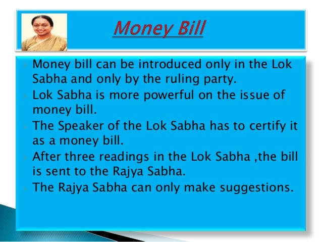 procedure of passing an ordinary bill in indian parliament