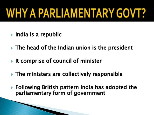 Parliamentary government