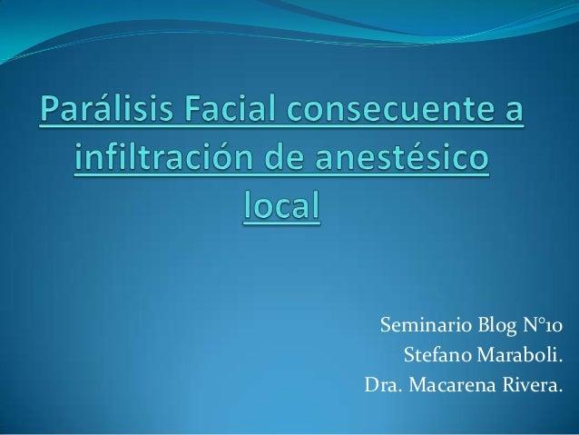 Seminario Blog N°10Stefano Maraboli.Dra. Macarena Rivera.
