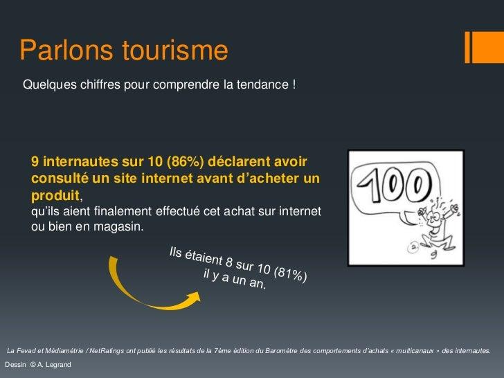 Parlons tourisme     Quelques chiffres pour comprendre la tendance !       9 internautes sur 10 (86%) déclarent avoir     ...