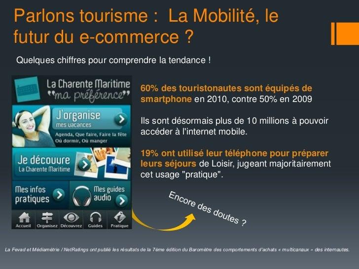 Parlons tourisme : La Mobilité, le   futur du e-commerce ?     Quelques chiffres pour comprendre la tendance !            ...