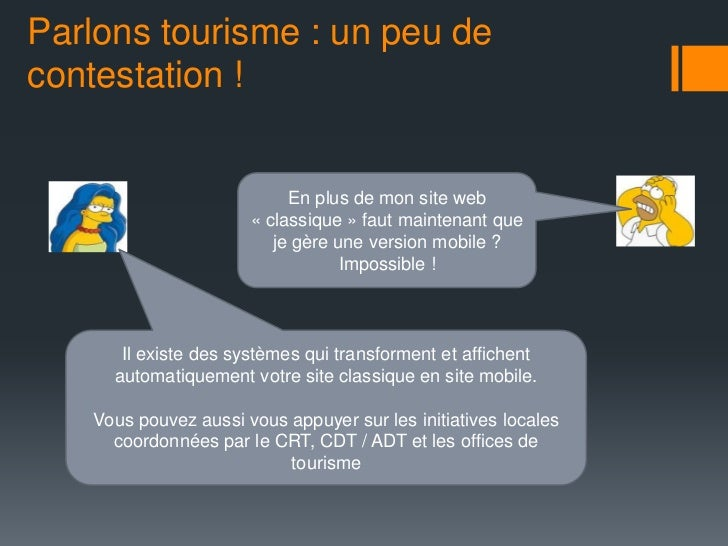 Parlons tourisme : un peu decontestation !                           En plus de mon site web                      « classi...