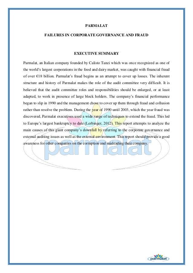 research paper the parmalat scandal