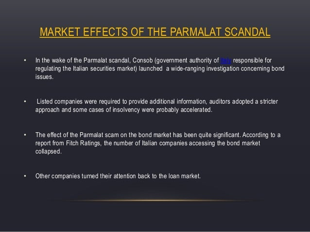 summary of parmalat europe s enron Free essay: case study:parmalat:europe's enron 1 review the facts in the case, especially the charges in the complaint, and evaluate the auditors.