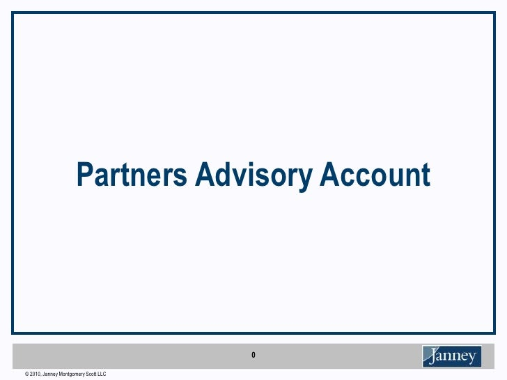 Partners Advisory Account <br />