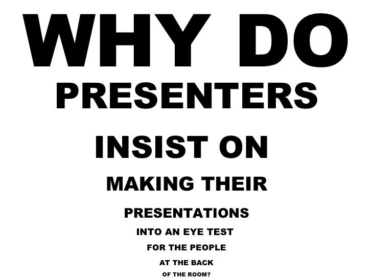 What people hate about your slides