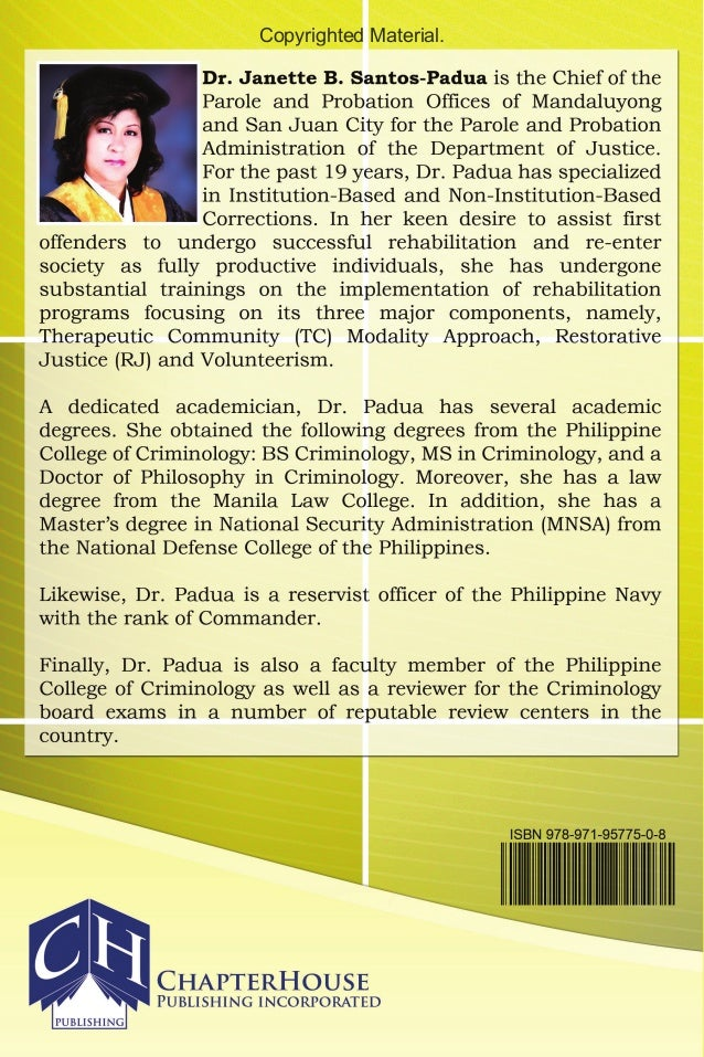introduction of parole and probation administration in philippines 16 by parole and probation administration  22 dir pagunsan to make a brief introduction of themselves and their 23  for the philippines,.