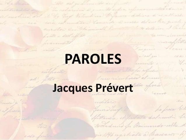 PAROLESJacques Prévert