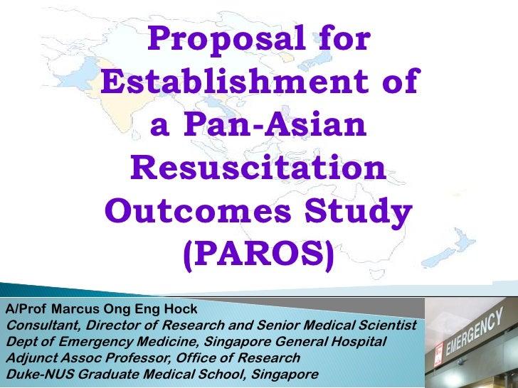 Proposal for               Establishment of                 a Pan-Asian                Resuscitation               Outcome...