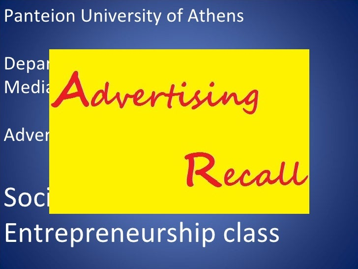 Panteion University of AthensDepartment of Communication,Media and CultureAdvertising and Public Relations LabSocial Media...