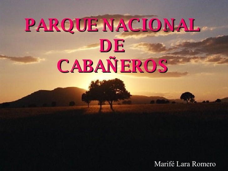 PARQUE NACIONAL  DE  CABAÑEROS Marifé Lara Romero