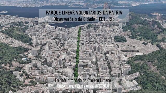 UNESA - Arquitetura e Urbanismo_2020 Escritório Modelo de Projeto Urbano PARQUE LINEAR VOLUNTÁRIOS DA PÁTRIA Observatório ...