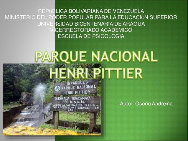 REPÚBLICA BOLIVARIANA DE VENEZUELA MINISTERIO DEL PODER POPULAR PARA LA EDUCACIÓN SUPERIOR UNIVERSIDAD BICENTENARIA DE ARA...