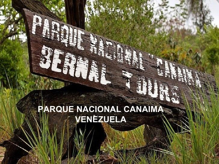 PARQUE NACIONAL CANAIMA VENEZUELA