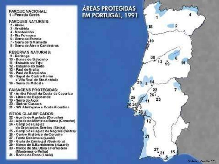 mapa das areas protegidas de portugal Áreas Protegidas em Portugal mapa das areas protegidas de portugal