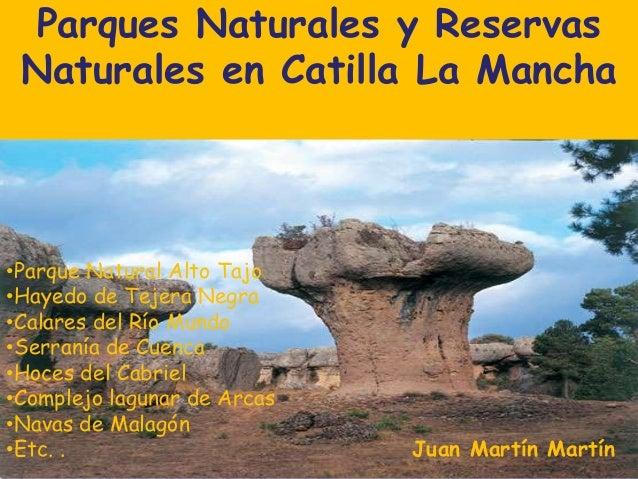 Parques Naturales y Reservas Naturales en Catilla La Mancha  •Parque Natural Alto Tajo •Hayedo de Tejera Negra •Calares de...