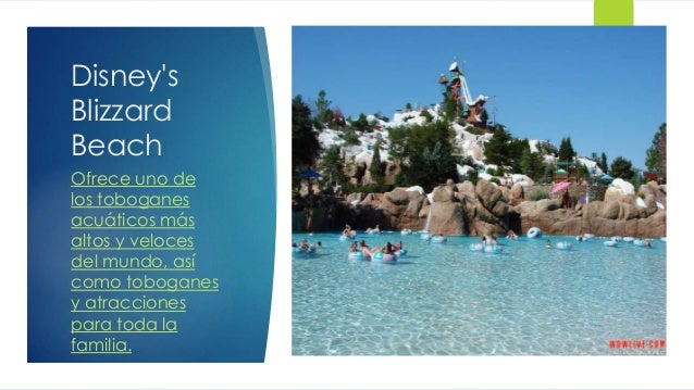Disney's Blizzard Beach Ofrece uno de los toboganes acuáticos más altos y veloces del mundo, así como toboganes y atraccio...