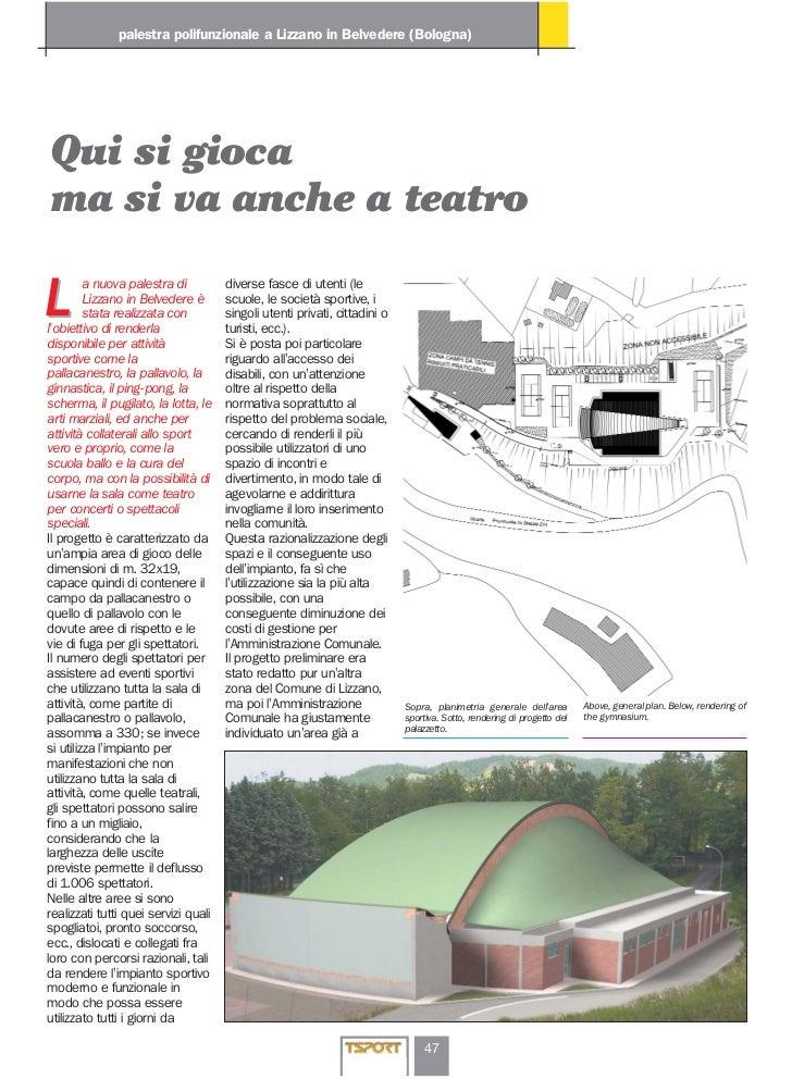 palestra polifunzionale a Lizzano in Belvedere (Bologna)Qui si giocama si va anche a teatro         a nuova palestra di   ...