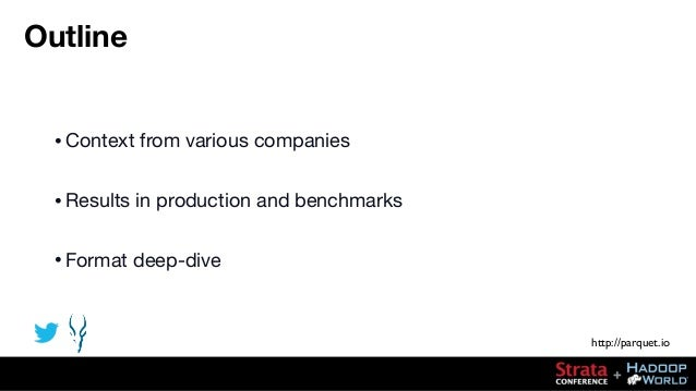 Parquet Strata/Hadoop World, New York 2013 Slide 2