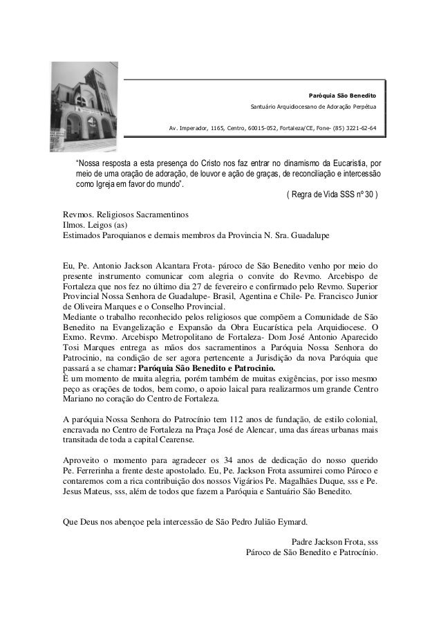 Paróquia São Benedito                                                           Santuário Arquidiocesano de Adoração Perpé...