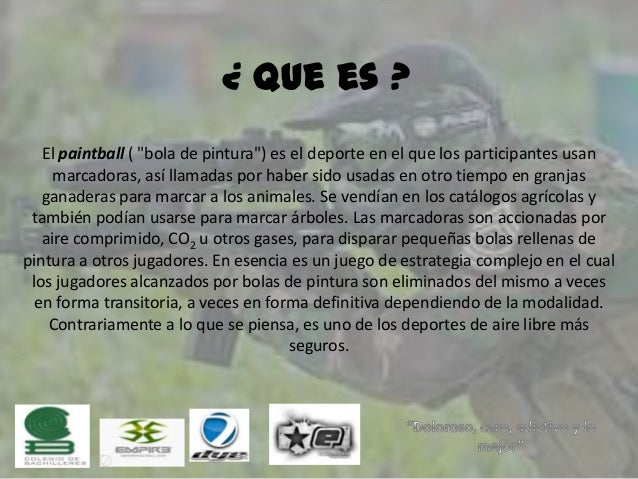 Paintball que significa