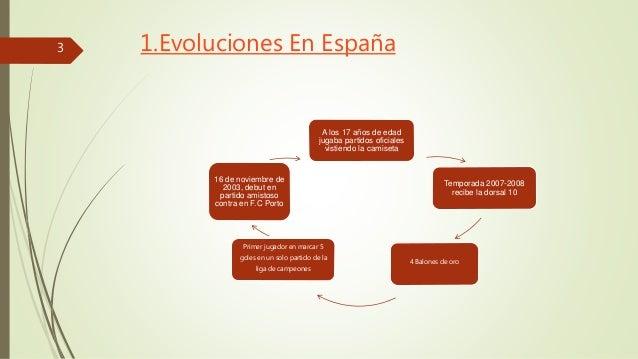 1.Evoluciones En España  A los 17 años de edad  jugaba partidos oficiales  vistiendo la camiseta  Temporada 2007-2008  rec...