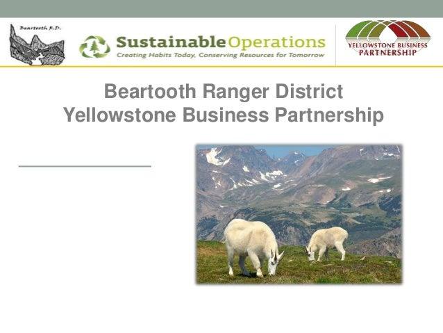 Beartooth Ranger District Yellowstone Business Partnership