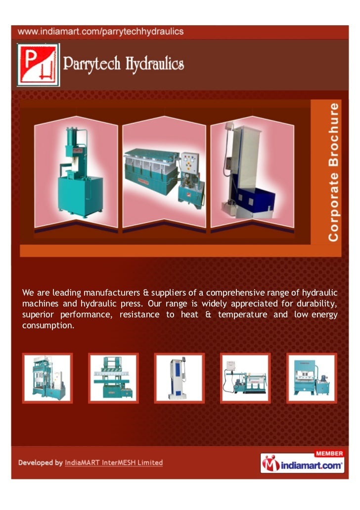 We are leading manufacturers & suppliers of a comprehensive range of hydraulicmachines and hydraulic press. Our range is w...