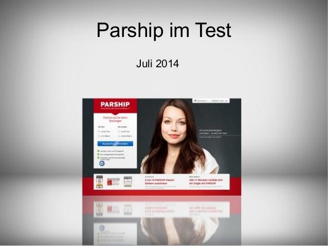 Parship im Test Juli 2014