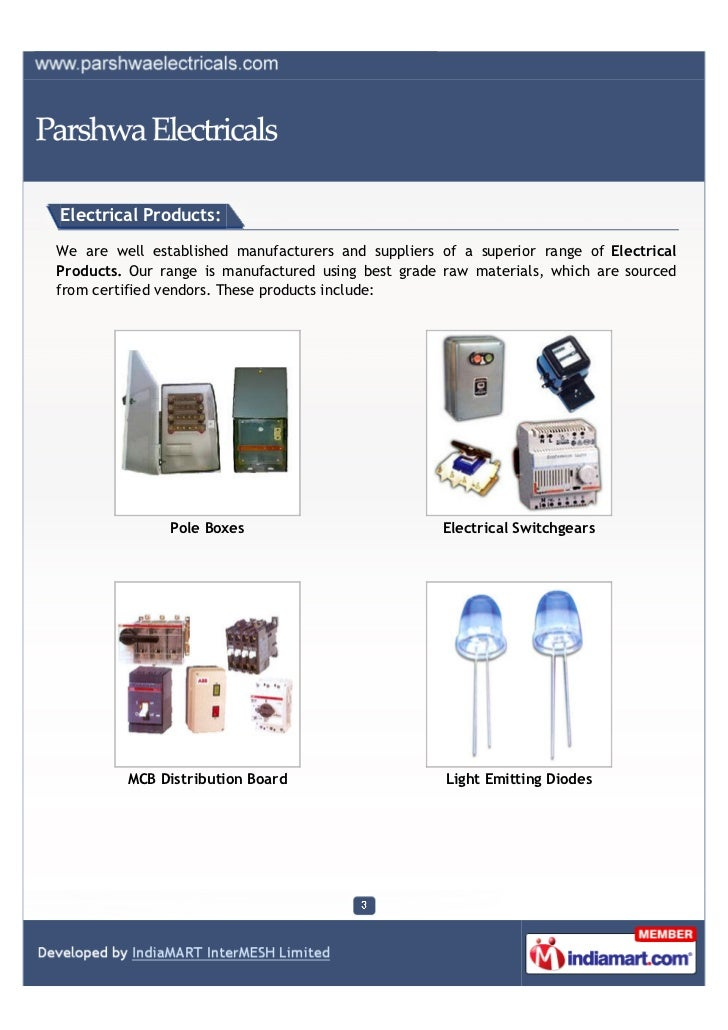 Parshwa Electricals, Mumbai, Electrical Products