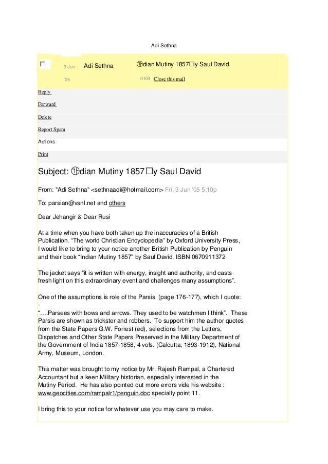 Adi Sethna          3 Jun   Adi Sethna         ㉮dian Mutiny 1857䠢y Saul David          05                          0 KB Cl...