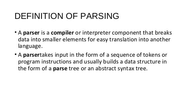 what is the definition of parsing
