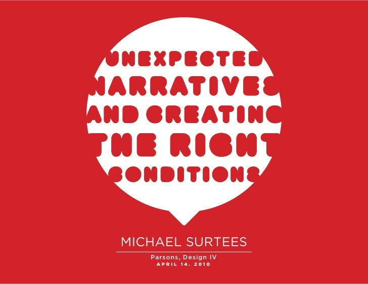 MICHAEL SURTEES    Parsons, Design IV     APRIL 14. 2010