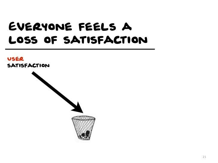 Everyone feels aloss of satisfactionUsersatisfaction                       21