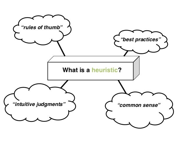 """""""rules of thumb""""                                         """"best practices""""                      What is a heuristic?""""intuit..."""
