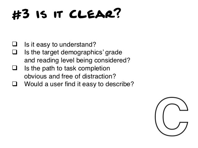 TOP 3 Clarity Offenses•   Corporate underpants: When you are obviously    making a navigational decision based on your    ...