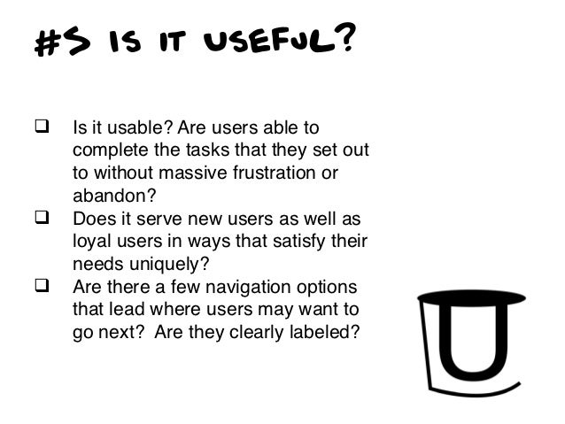 #6 Is it Credible?q Is the design appropriate to the   context of use and audience?q Is your content updated in a timely...