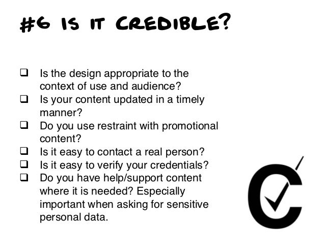 #7 Is it Controllable?q   Are tasks and information a user     would reasonably want to     accomplish available?q   How...