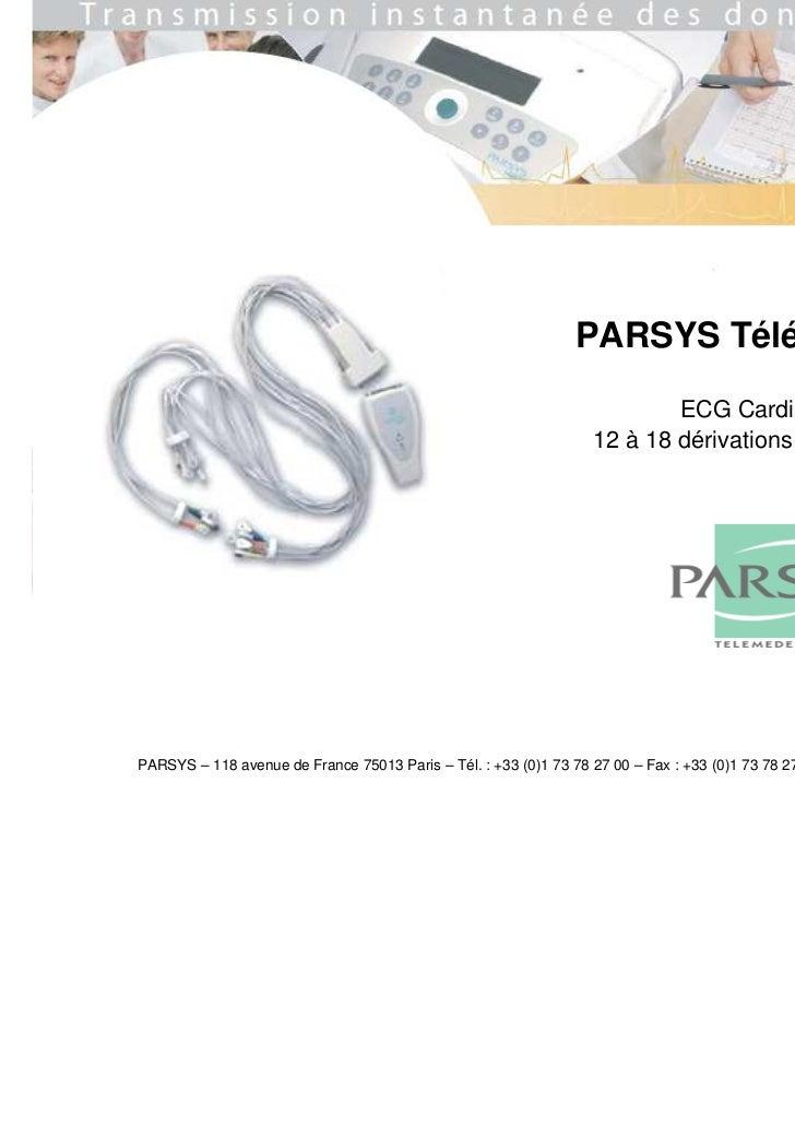 PARSYS Télémédecine                                                                          ECG Cardialys© :             ...