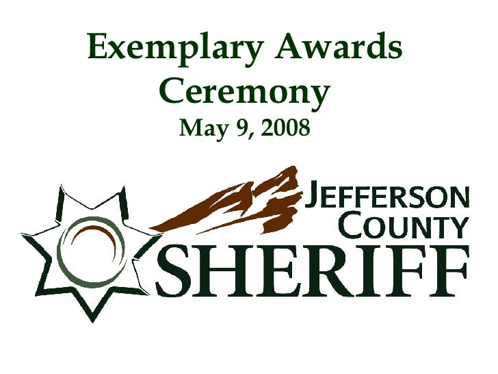 Exemplary Awards Ceremony May 9, 2008