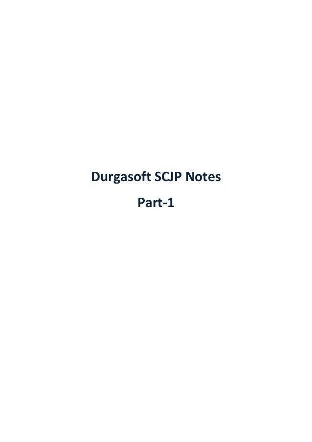 Pdf scjp notes durga sir