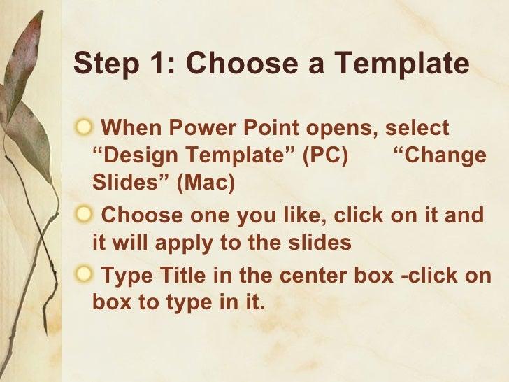 Steps To Make A Ppt