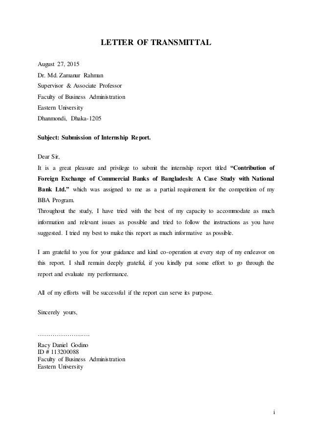 Internship report on nbl part 2 i letter of transmittal august 27 2015 dr md zamanur rahman supervisor ii letter of authorization spiritdancerdesigns Choice Image