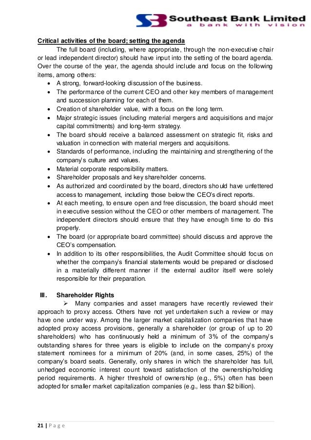 analysis of corporate governance strategies in banking African development bank corporate governance strategy july 2007 ii the bank's corporate governance strategy is an important component of its overall.