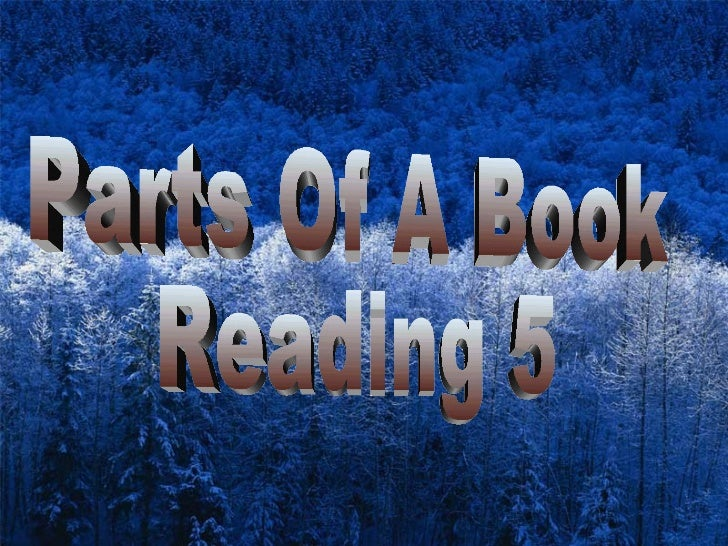 Parts Of A Book Reading 5