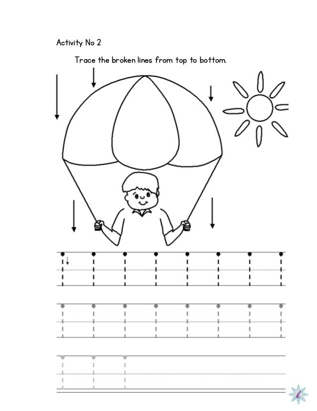 Worksheets Dysgraphia Worksheets worksheet for dysgraphia activity no 2 trace the broken lines from top to bottom