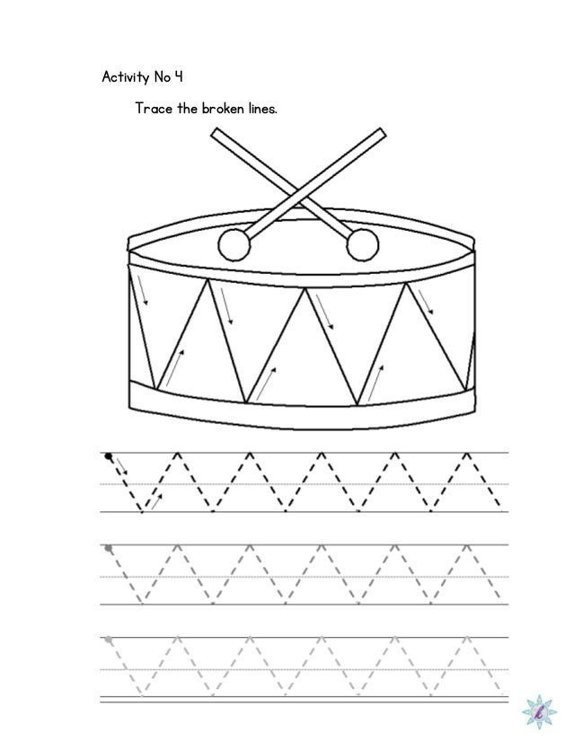 Worksheets Dysgraphia Worksheets worksheet for dysgraphia activity no 4 trace the broken lines