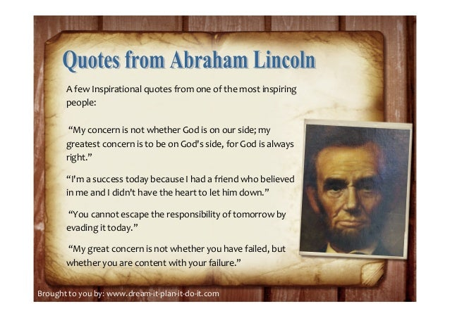 ... 7. A Few Inspirational Quotes ...
