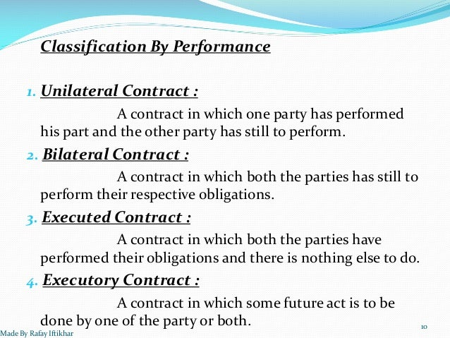 understanding a bilateral and unilateral contract in business A bilateral contract is a reciprocal arrangement  when determining whether a contract is unilateral or bilateral in  understand the purpose of market .
